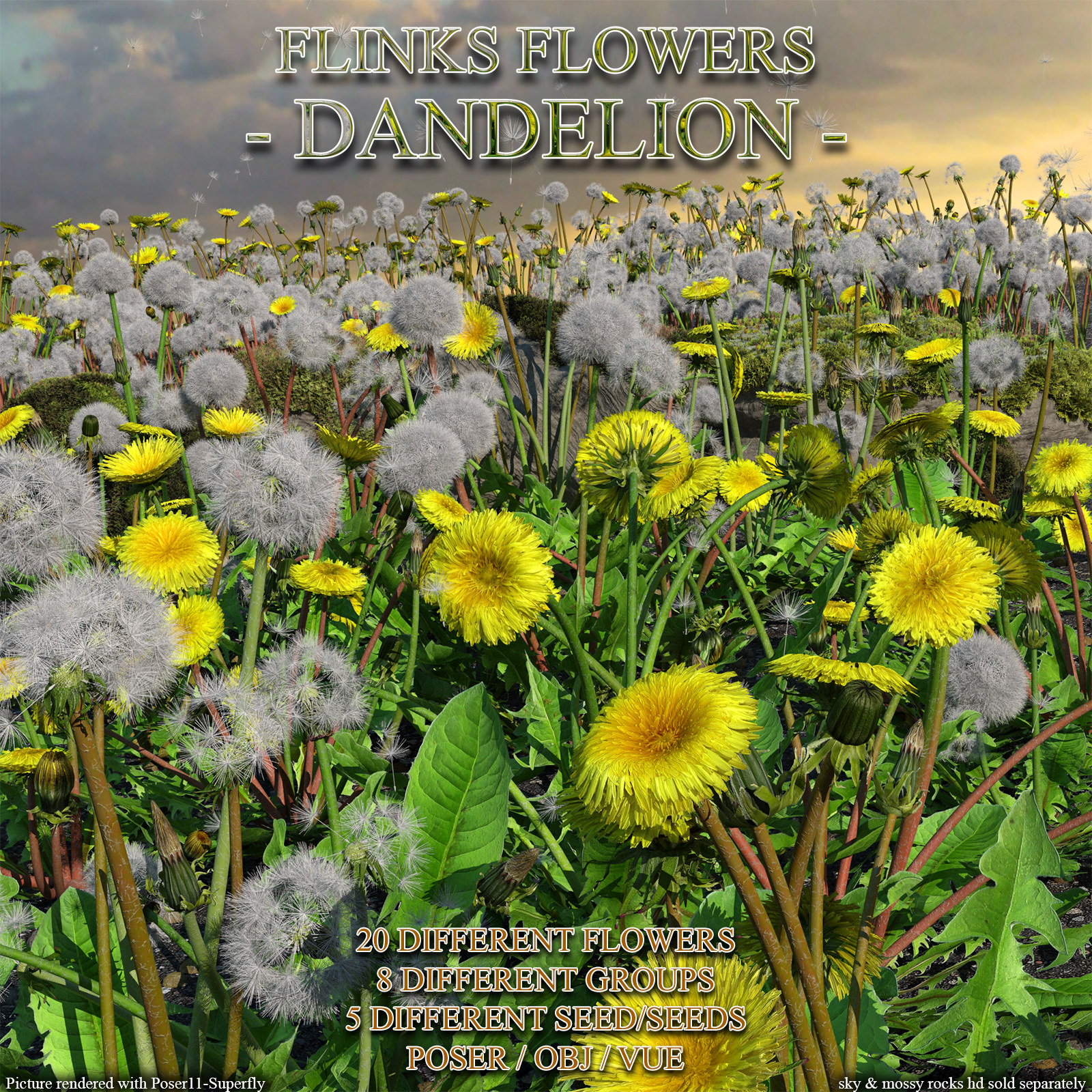 Flinks Flowers - Flower 7 - Dandelion