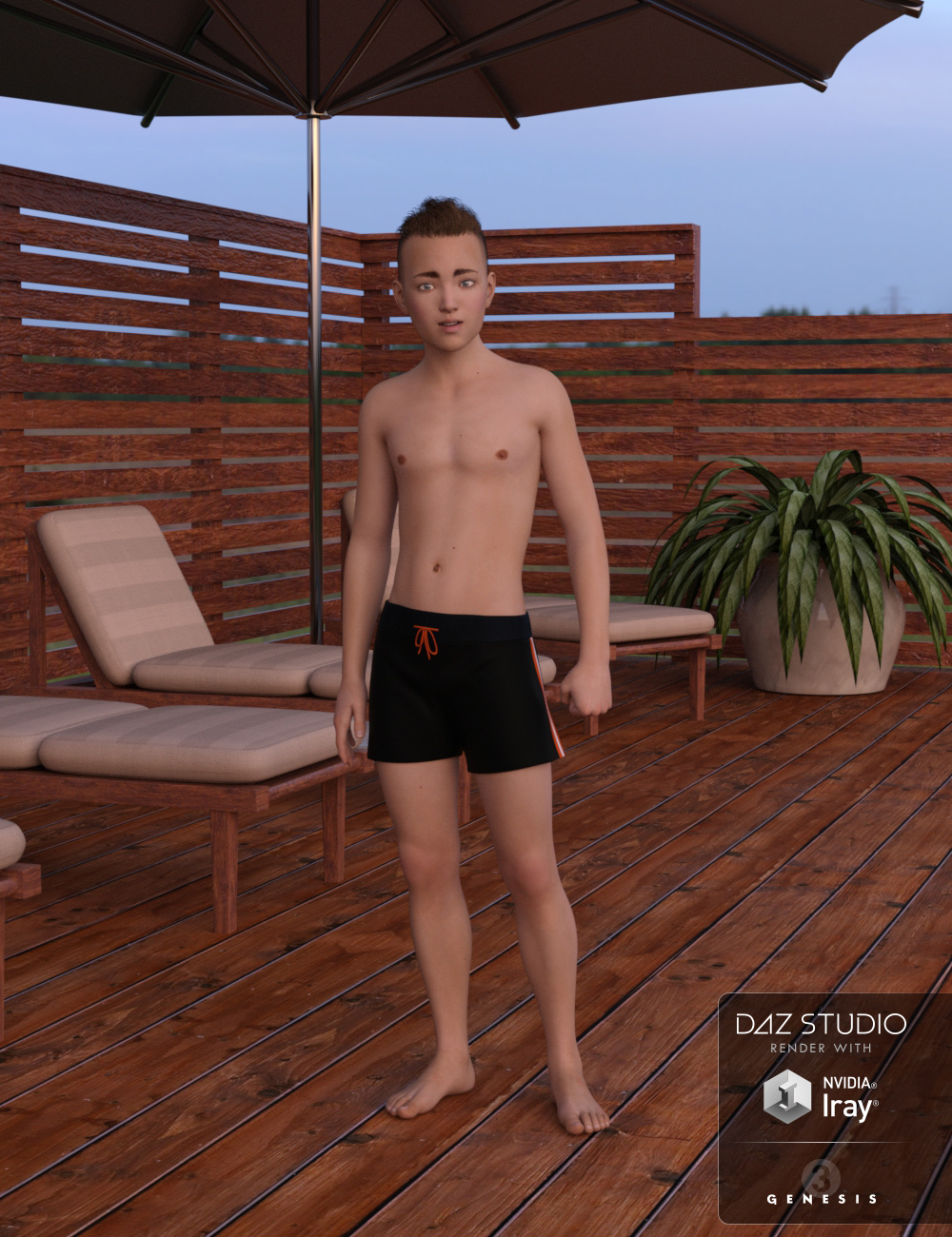 Peter for Genesis 3 Male - Boy Character by SF-Design