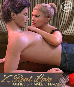 Z Real Love - Poses for Genesis 3 Male and Female and Michael and Victoria 7 3D Figure Assets Zeddicuss