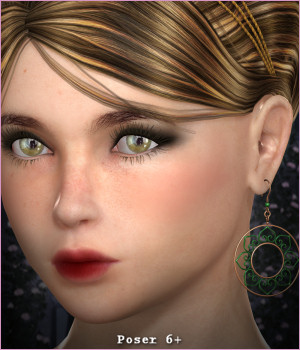 Dazzle for Dawn's Wired Up Earrings 3D Figure Assets -Wolfie-