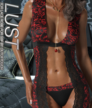 LUST - Lace Robe for Genesis 3 Female 3D Figure Assets Anagord