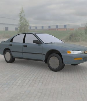 Honda Accord 1997 :: Wavefront OBJ - Extended License 3D Game Models : OBJ : FBX 3D Models Extended Licenses Digimation_ModelBank