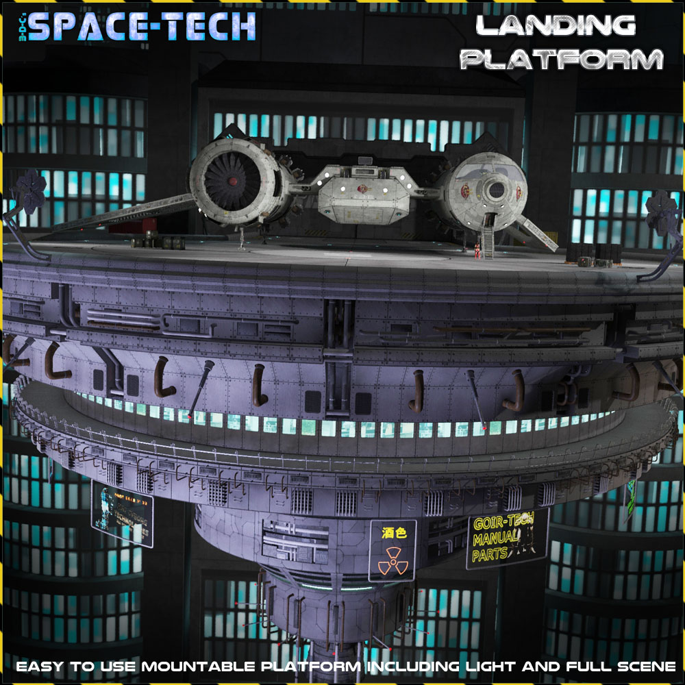 SpaceTech: Landing Platform by 3-d-c