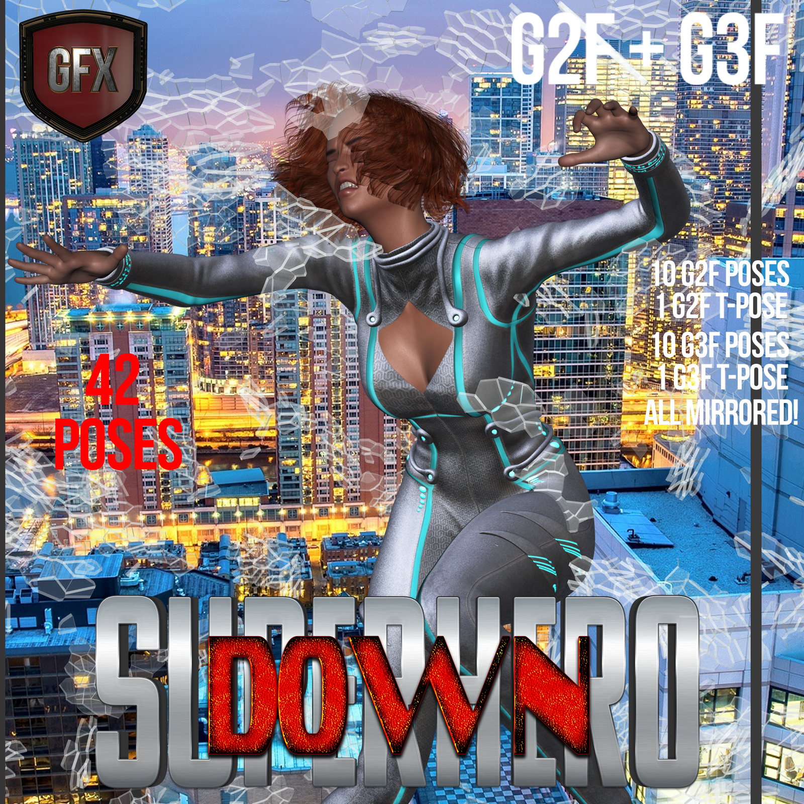 SuperHero Down for G2F & G3F Volume 1