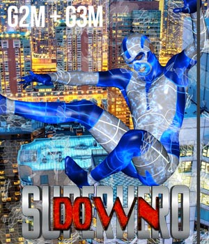 SuperHero Down for G2M & G3M Volume 1 3D Figure Assets GriffinFX