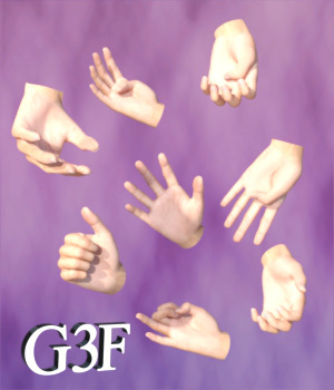 BSL Handshapes for G3F 3D Figure Assets WorkmanJC