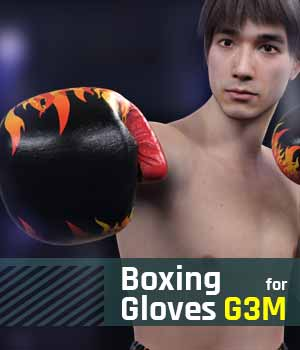 Boxing Gloves G3M for Genesis 3 Male 3D Figure Assets gravureboxing
