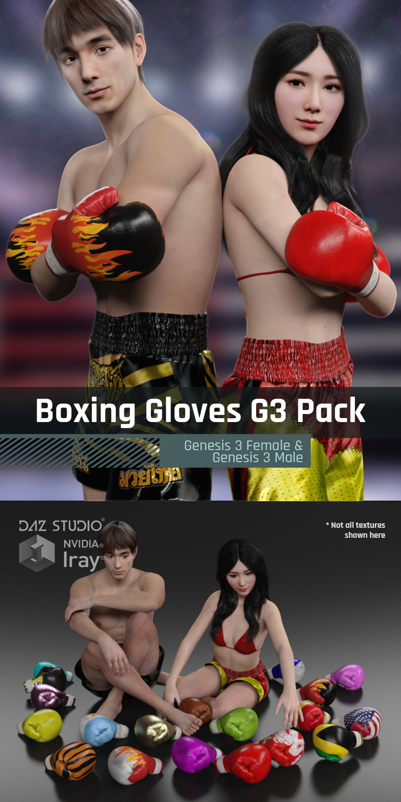 Boxing Gloves G3 Pack for Genesis 3 Female And Genesis 3 Male