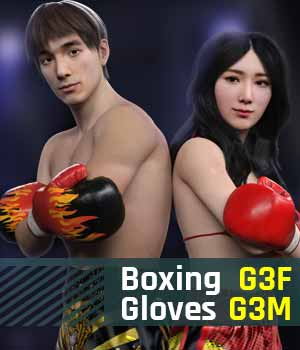 Boxing Gloves G3 Pack for Genesis 3 Female And Genesis 3 Male 3D Figure Assets gravureboxing