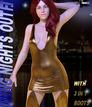 Shining Nights Outfit 3D Figure Assets Shadoweagle