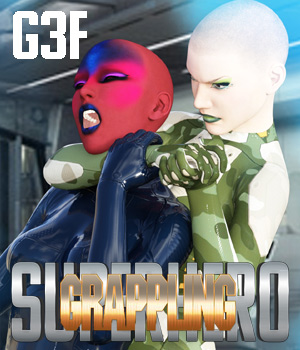 SuperHero Grappling for G3F Volume 1 3D Figure Assets GriffinFX