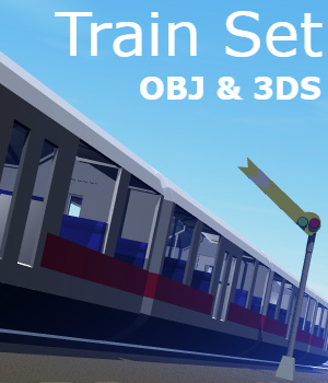 Train Set - Extended License 3D Game Models : OBJ : FBX 3D Models Extended Licenses darkness_02