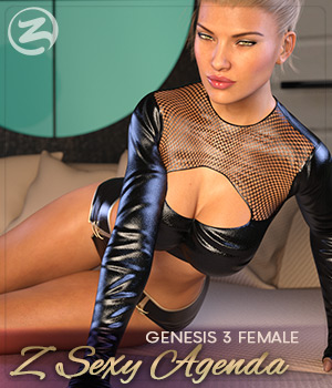Z Sexy Agenda - Poses for the Genesis 3 Females 3D Figure Assets Zeddicuss