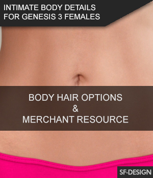 Intimate Body Details for Genesis 3 Females 3D Figure Assets Merchant Resources SF-Design