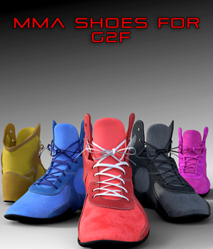 MMA Shoes for Genesis 2 Female 3D Figure Assets 3OID