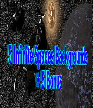 5 Infinite Space Backgrounds 2D Graphics kalhh