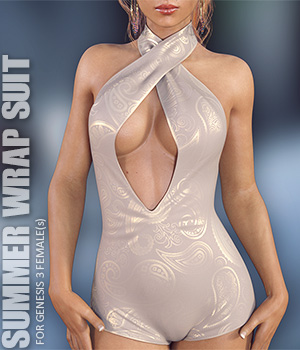 Summer Wrap Suit for Genesis 3 Females 3D Figure Assets lilflame