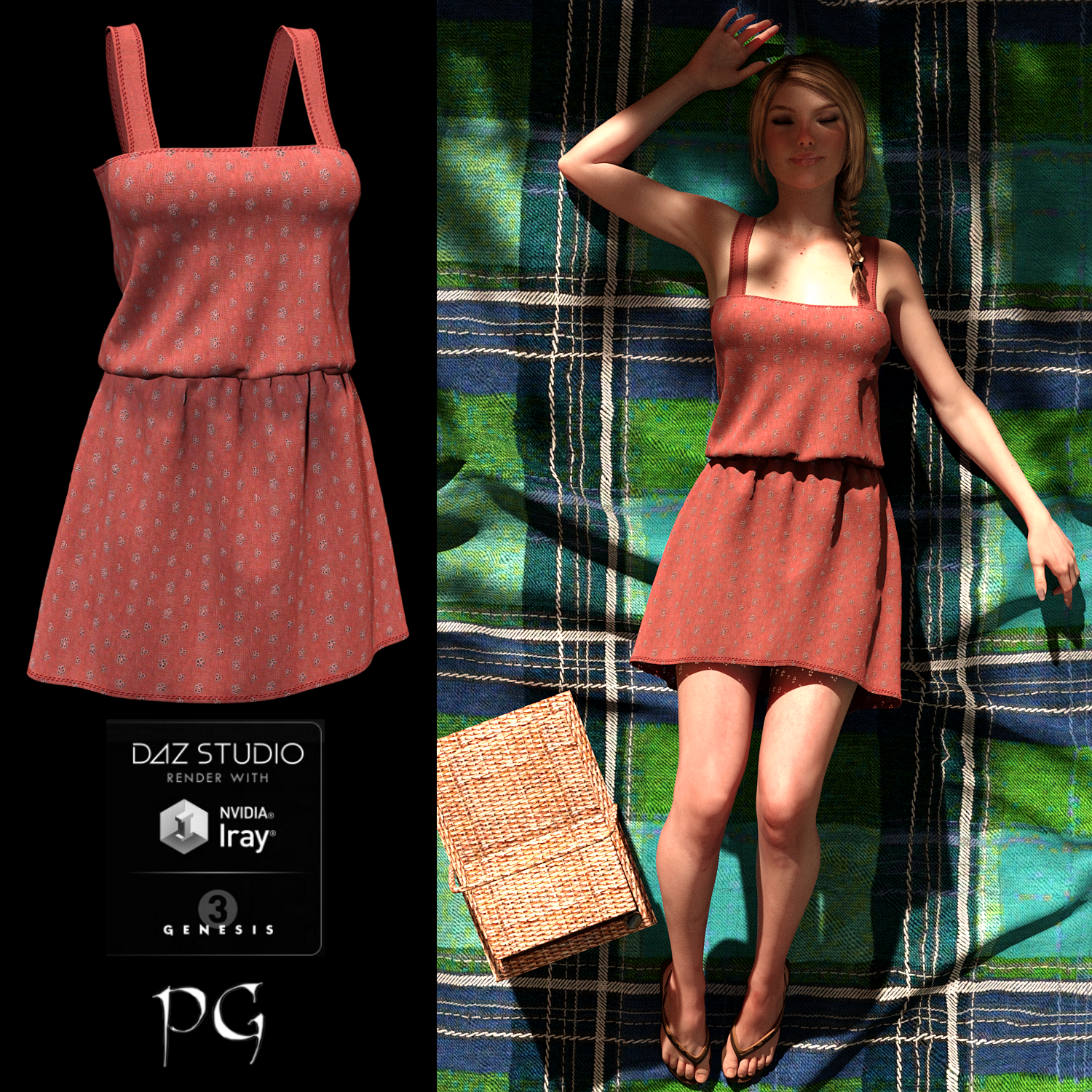 Rustic Country Dress For G3F