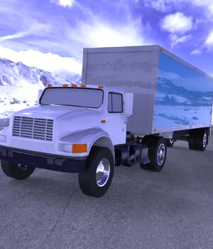 Truck with Trailer for Wavefront OBJ - Extended License 3D Game Models : OBJ : FBX 3D Models Extended Licenses Digimation_ModelBank
