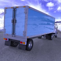Truck with Trailer for Wavefront OBJ - Extended License image 1