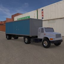 Truck with Trailer for Wavefront OBJ - Extended License image 2