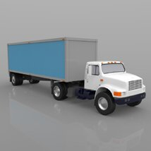 Truck with Trailer for Wavefront OBJ - Extended License image 3