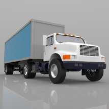 Truck with Trailer for Wavefront OBJ - Extended License image 4