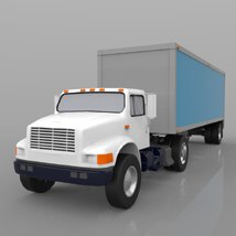 Truck with Trailer for Wavefront OBJ - Extended License image 5