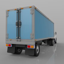 Truck with Trailer for Wavefront OBJ - Extended License image 9