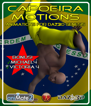 Capoeira Motions for Genesis 3D Figure Assets ka06059
