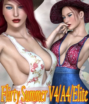Flirty Summer V4/A4/Elite 3D Figure Assets kaleya