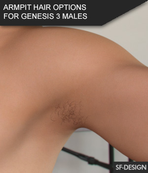 Armpit Hair Options for Genesis 3 Male Based Characters and MR 3D Figure Assets Merchant Resources SF-Design