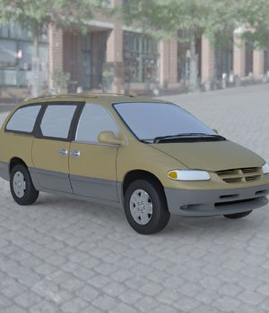 Dodge Caravan 1996 Wavefront OBJ - Extended License 3D Game Models : OBJ : FBX 3D Models Extended Licenses Digimation_ModelBank