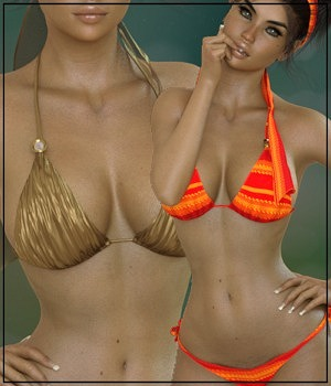 7th Ave: X-Fashion Bohemian Bikini 3D Figure Assets 3-DArena