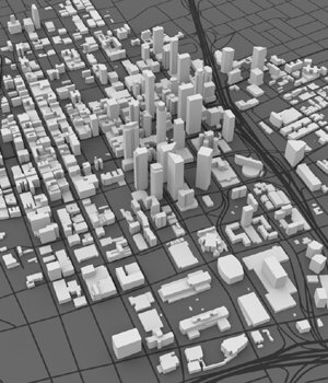 Los Angeles Cityscape 3ds and obj format - Extended License 3D Models Digimation_ModelBank
