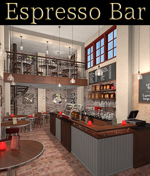 Espresso Bar 3D Models 2nd_World