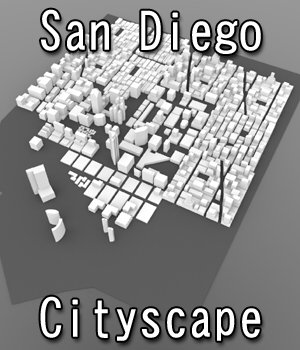 San Diego Cityscape- 3ds and obj - Extended License 3D Game Models : OBJ : FBX 3D Models Extended Licenses Digimation_ModelBank