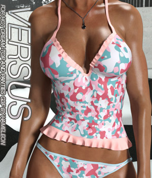 VERSUS - Hot Dream - Top and Panties for G3 and V7 3D Figure Assets Anagord