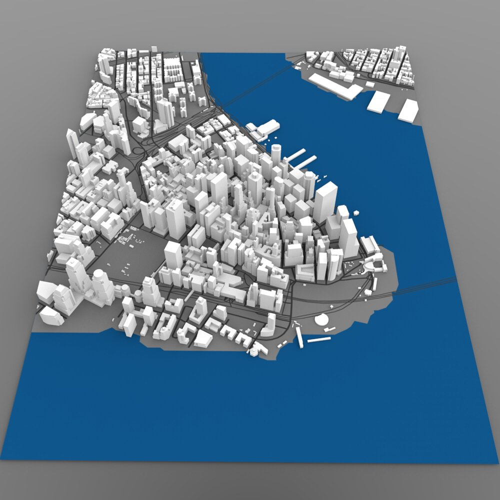 Lower Manhattan Cityscape - 3ds and obj - Extended License by Digimation_ModelBank