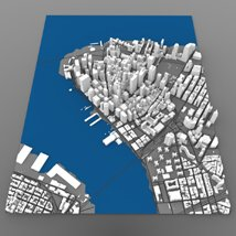 Lower Manhattan Cityscape - 3ds and obj - Extended License image 1