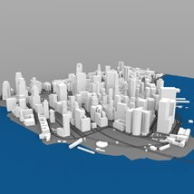 Lower Manhattan Cityscape - 3ds and obj - Extended License image 2