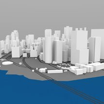 Lower Manhattan Cityscape - 3ds and obj - Extended License image 3