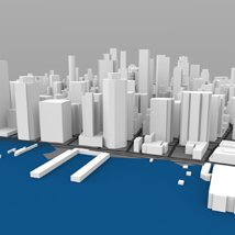 Lower Manhattan Cityscape - 3ds and obj - Extended License image 5