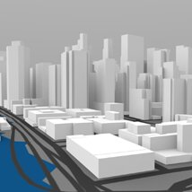 Lower Manhattan Cityscape - 3ds and obj - Extended License image 6
