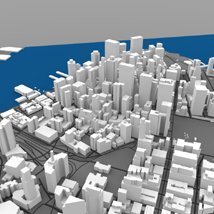 Lower Manhattan Cityscape - 3ds and obj - Extended License image 7