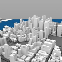 Lower Manhattan Cityscape - 3ds and obj - Extended License image 8