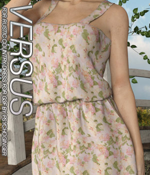 VERSUS - Rustic Country Dress for G3F 3D Figure Assets Anagord