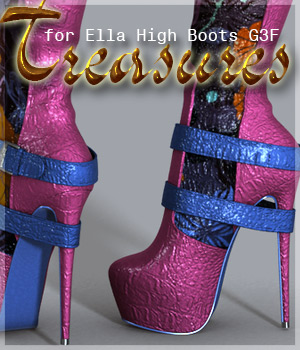 Treasures Ella High Boots G3F 3D Figure Assets alexaana
