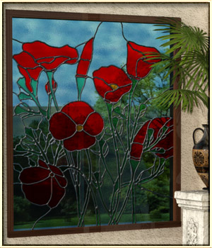 Stained Glass Windows for Iray 3D Models vyktohria