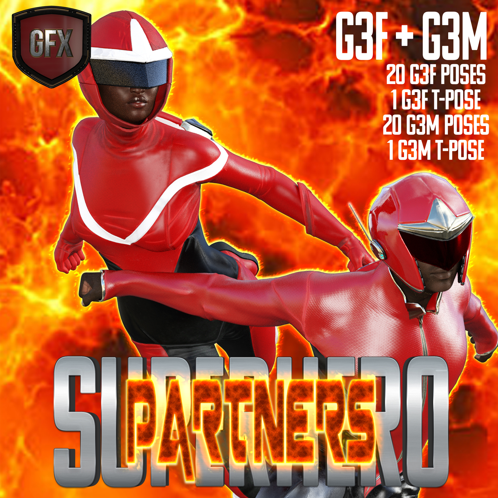 SuperHero Partners for G3F and G3M Volume 1